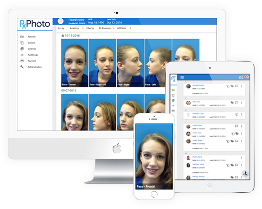 patient photo management software interface